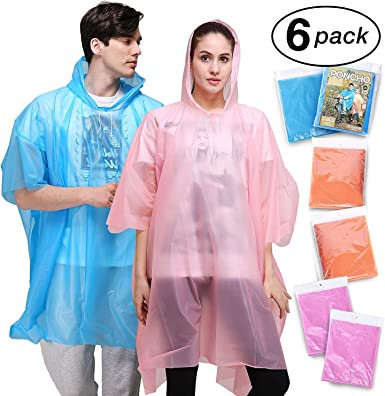 Adult Emergency Waterproof Rain Poncho Raincoat Hooded Music Concert Festival UK
