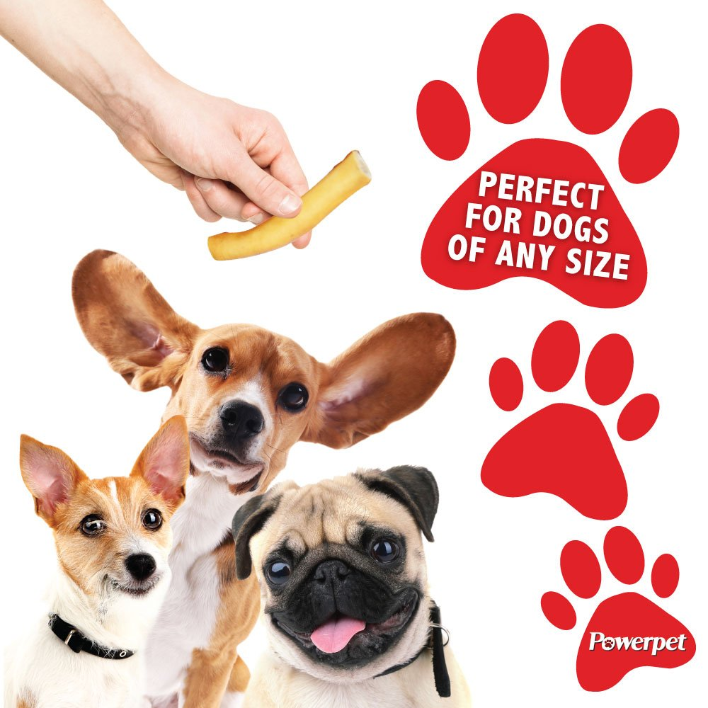 Powerpet: Value Pack - Natural Dog Chews - Helps Improve Dental Hygiene - 100% Natural & Highly Digestible - Protein with Low Fat - Smoked Beef Bone - Beef Jerky Bites, Trachea, Cheek Roll, Cow Tail by Powerpet (Image #6)