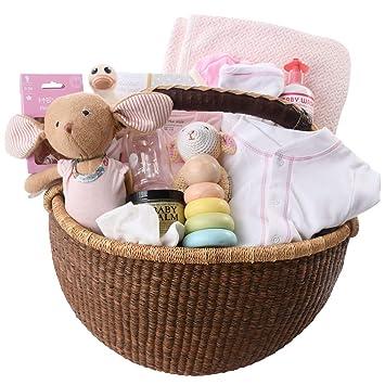 Amazon.com: Cesta de regalo para bebé de lujo orgánico ...
