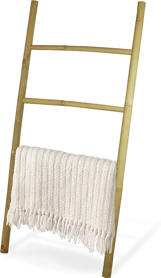 MyGift - Escalera decorativa de bambú para toallas de pared, 152,4 ...