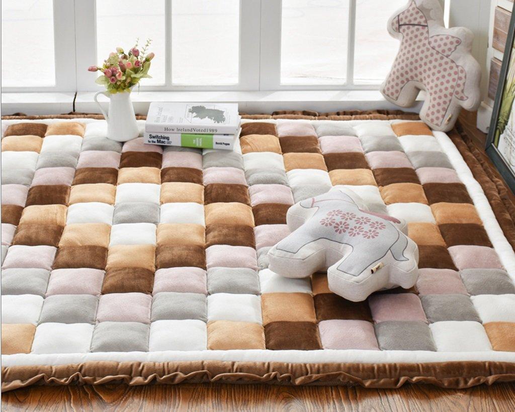 家庭用ノンスリップカーペットのベッドルームフルショップ長方形ベッドサイドソファクロールマット ( 色 : C , サイズ さいず : 110*200cm ) 110*200cm C B077QBQP6M