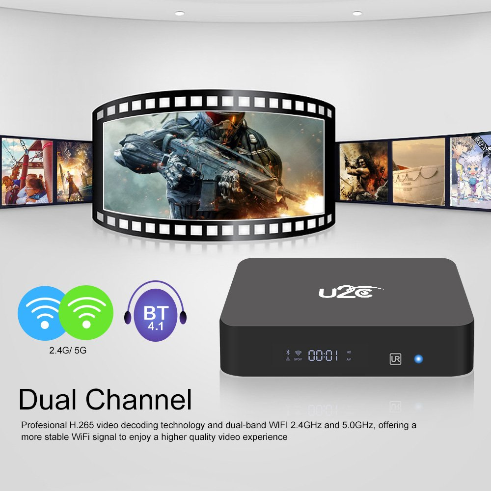Docooler Android Mini PC Android 7.1 Amlogic S912 Octa-core 64 Bit 3GB / 32GB H.265 UHD 4K Mini PC 2.4G & 5G WiFi 1000M LAN BT 4.1 HD Media Player US Plug by Docooler (Image #9)
