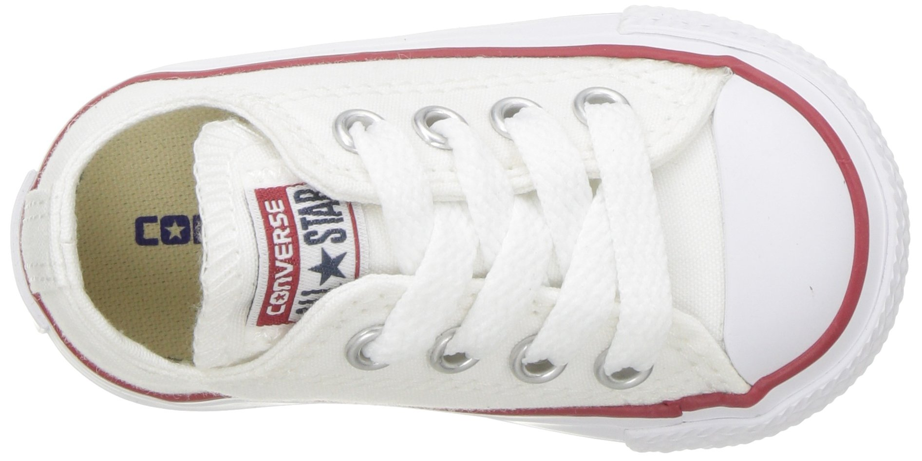 Converse Chuck Taylor All Star Canvas Low Top Sneaker, Optical White, 13.5 M US Little Kid by Converse (Image #12)