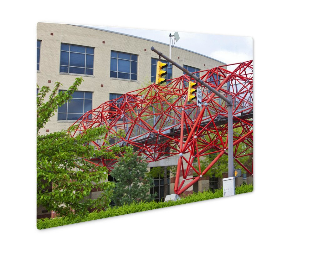 Ashley Giclee Metal Panel Print, This Pedestrian Bridge At Columbus State Community College Is An Eye Catching, 16x20, AG6375652