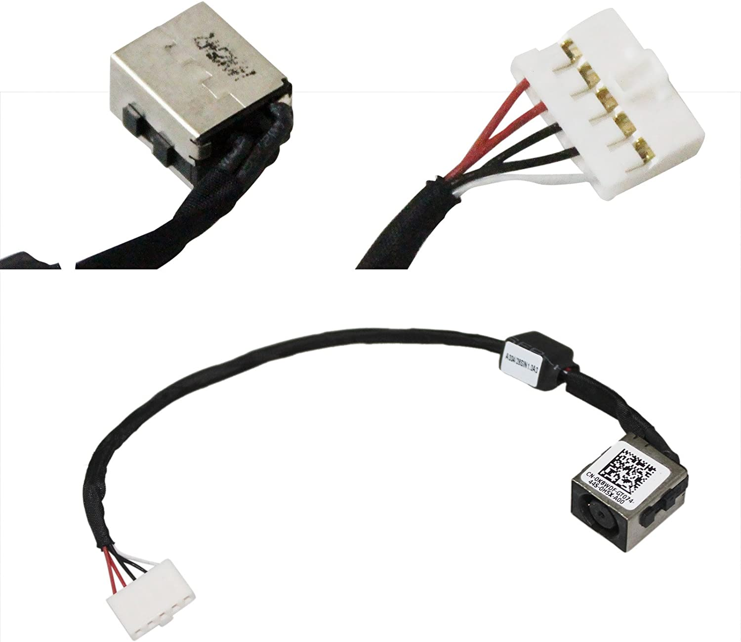 GinTai DC Power Jack Harness Plug in Cable Replacement for DELL Inspiron 14 14-5447 14-5448 K8WDF