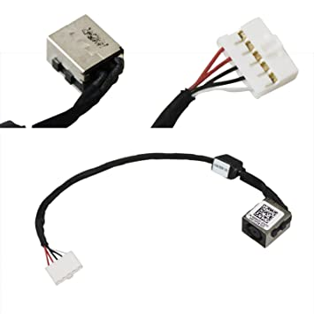 amazon com dc power jack harness plug in cable for dell inspiron 14 rh amazon com House Plug Wiring Diagram Power Plug Wiring Brass Side