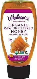 Wholesome Organic Raw Unfiltered Honey, Pesticide Free, Fair Trade, Non GMO