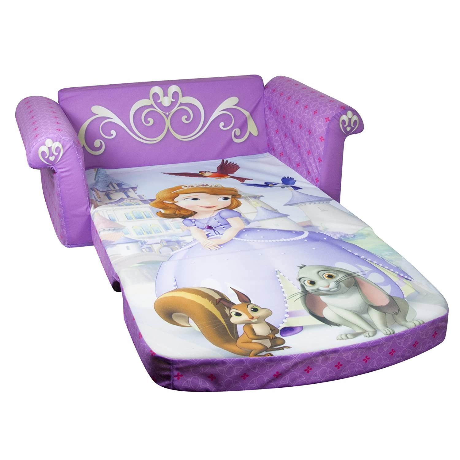 Sofia The First Bedroom Furniture Amazoncom Marshmallow Childrens Furniture 2 In 1 Flip Open