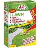 Doff 3 in 1 Lawn Feed Weed and Mosskiller 1.75kg - Treats 50 meter Squared