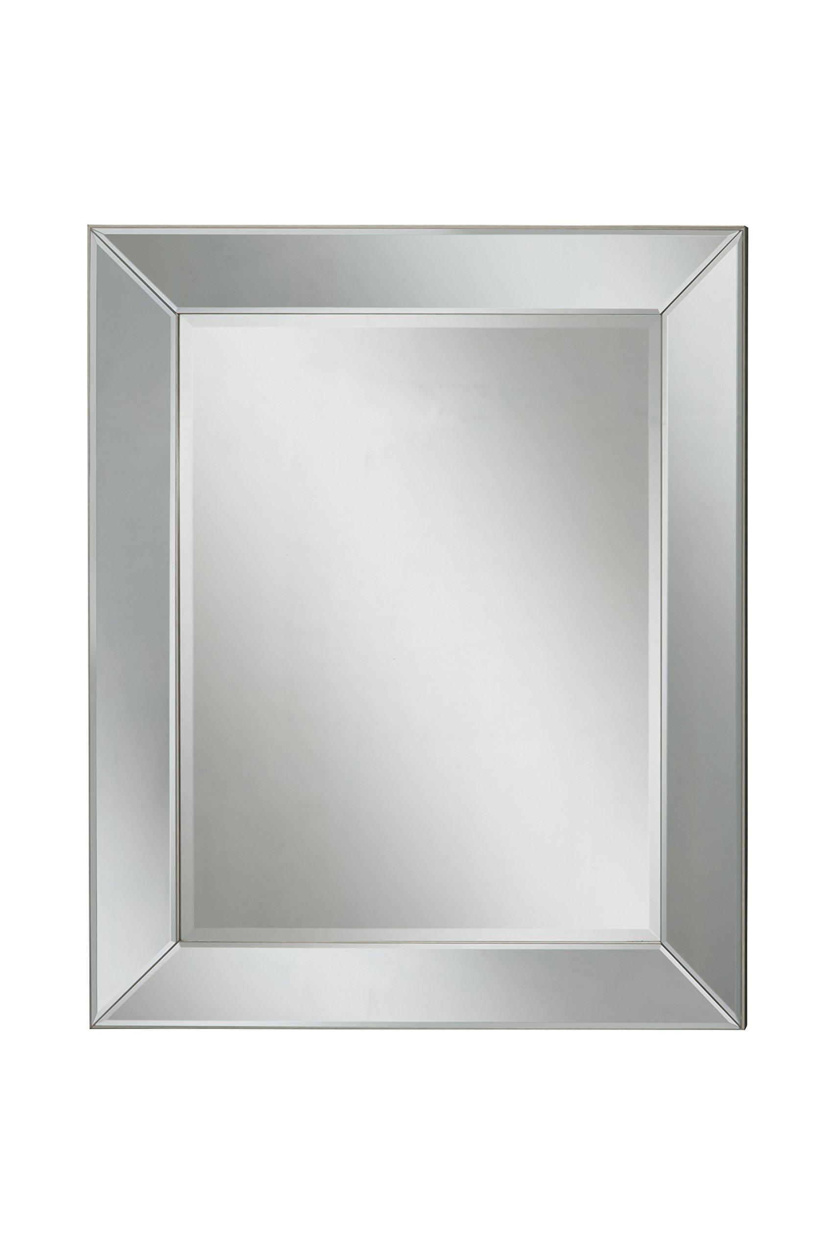 Sandberg Furniture 17017 Mirror on Mirror Wall Mirror,,36 X 30''