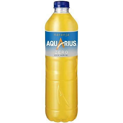 Aquarius - Zero Naranja, Bebida para deportistas, refresco sin gas ...