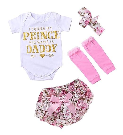 fdb574b84c740 Amazon.com: Baby Girl Romper Bodysuit Frolar Bowknot Shorts Leg Warmers + Headband Jumsuit: Clothing