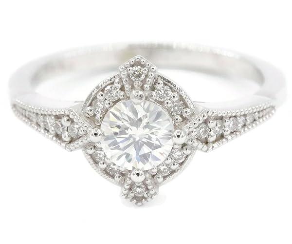 Amazon Com Edwardian Style Diamond Engagement Ring Custom Made By