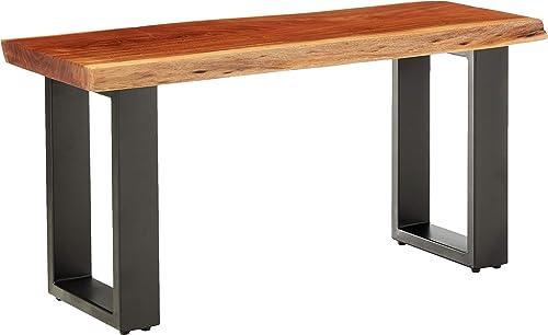Alpine Live Edge Solid Wood 36 Bench