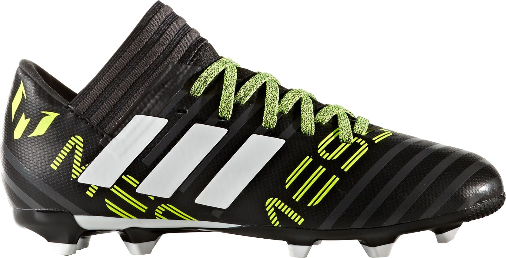 adidas Kids' Nemeziz Messi 17.3 Fg J Soccer-Shoes, Black/White/Solar Yellow, 3.5 Big Kid by adidas