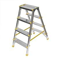 Aluminium Trittleiter, beidseitig begehbar, 2x4 Stufen, 150kg Traglast