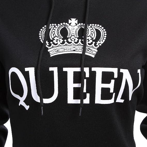 Stephaee Partner Sweat /à capuche pour homme et femme King Queen
