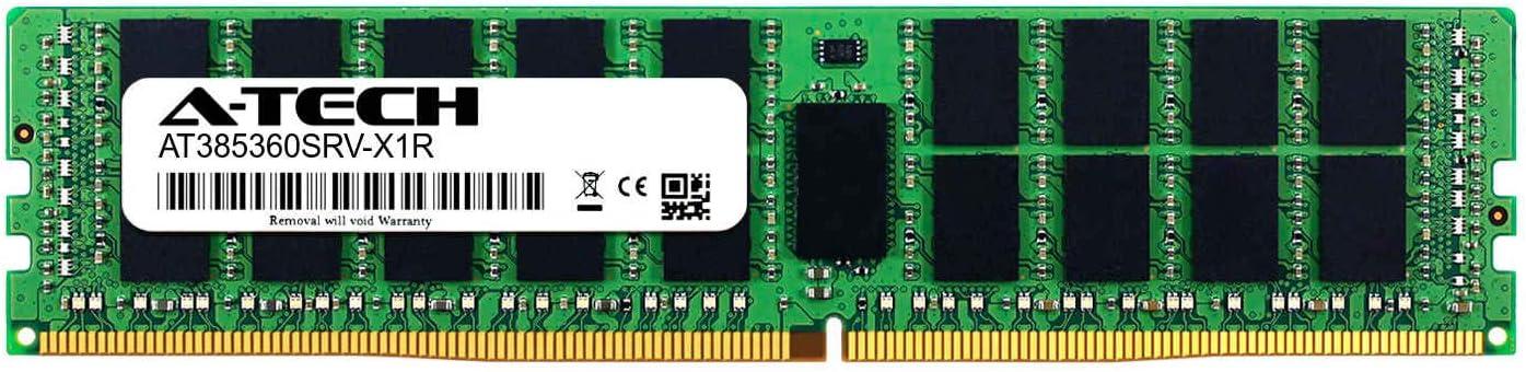A-Tech 32GB Module for GIGABYTE X299 UD4 Server Memory Ram DDR4 PC4-19200 2400Mhz ECC Registered RDIMM 2rx4 AT385360SRV-X1R10