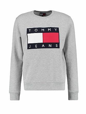 3ac8a10784003b Tommy Hilfiger .. Herren Sweatshirt Gr. Small, grau meliert: Amazon ...