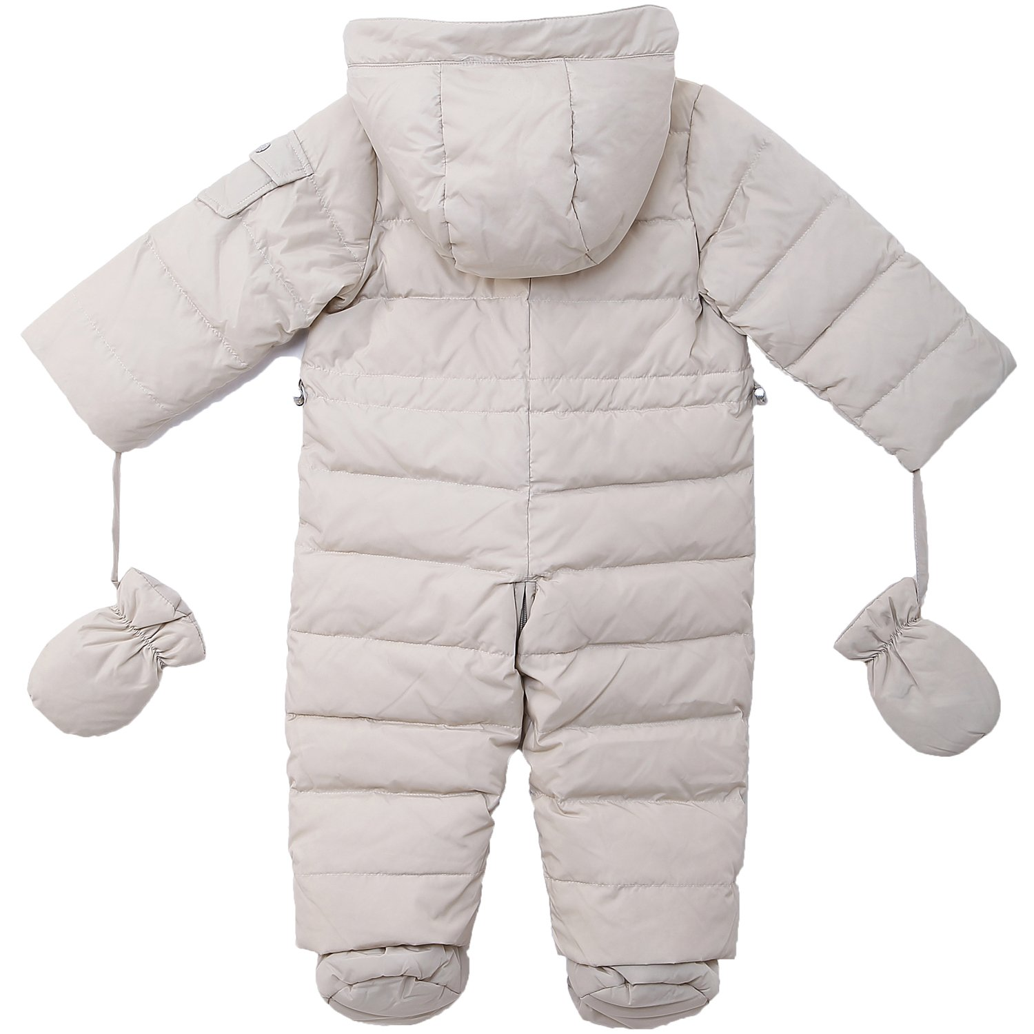 d7c9c2eca OCEANKIDS Baby Boys Pram One-Piece Snowsuit Attached Hood 0-24 ...