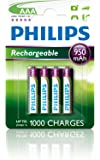 Philips R03B4A100 Batterie rechargeable 1000mAh AAA 4 pièces