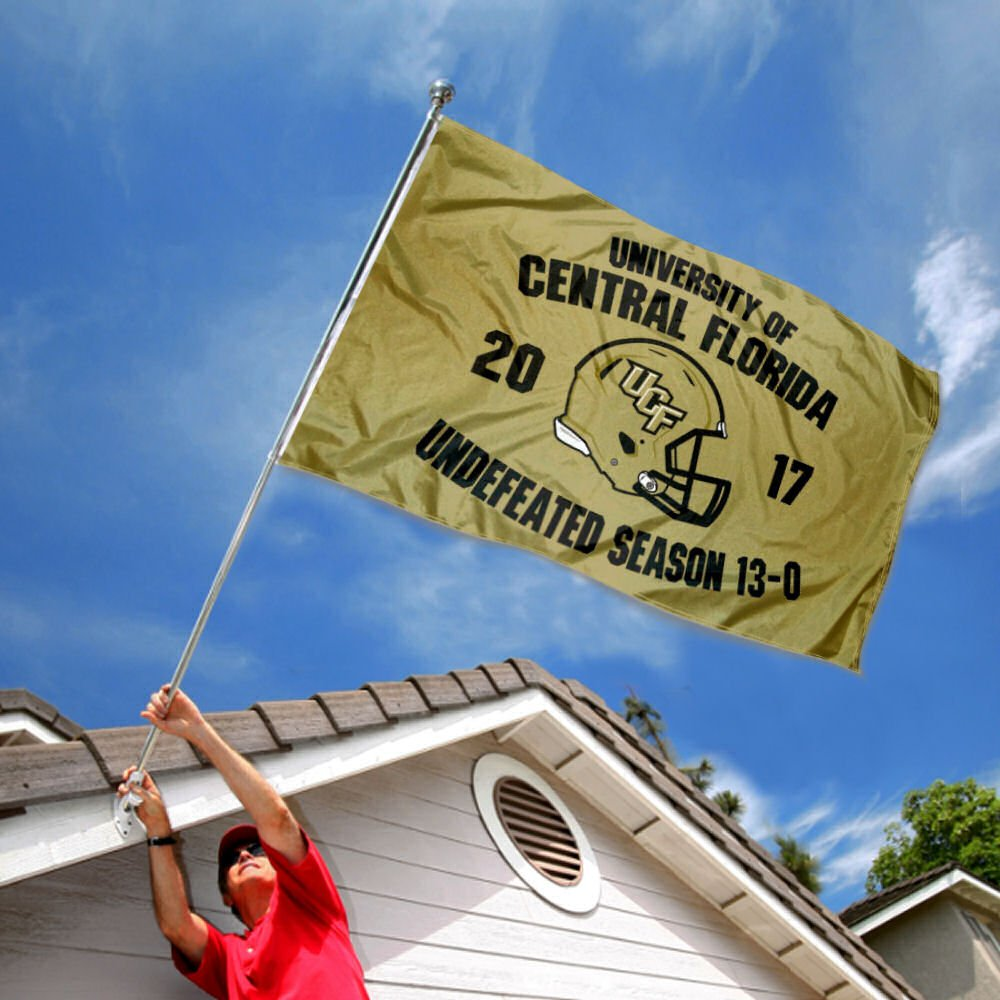 College Flags and Banners Co Central Florida Knights 2017 Undefeated Season Flag