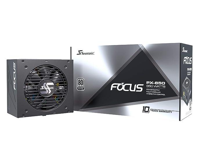 Seasonic FOCUS PX-850 Fuente de alimentación para PC con alimentación completa 80PLUS Platinum 850 vatios