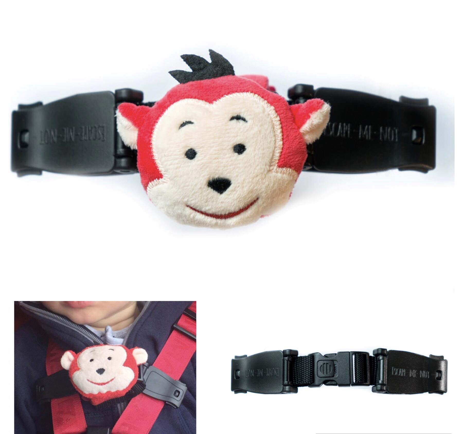 Car Seat Anti Escape Harness Chest Clip No Threading Required Helps Prevent Children Taking Their Arms Out Of The Straps