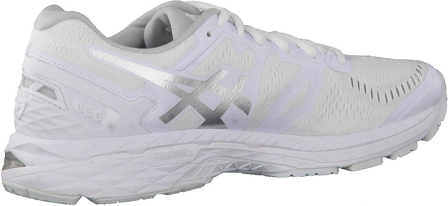 Asics Gel-Kayano 23, Zapatillas de Running para Hombre, Blanco (White/Snow/Silver), 50.5 EU: Amazon.es: Zapatos y complementos