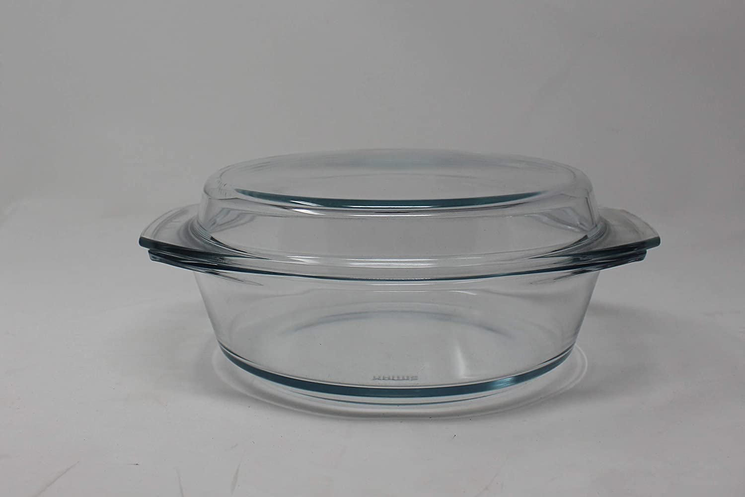 Clear Round Glass Casserole by Simax | With Lid, Heat, Cold and Shock Proof, Made in Europe, Oven, Freezer and Dishwasher Safe, 2 Quart