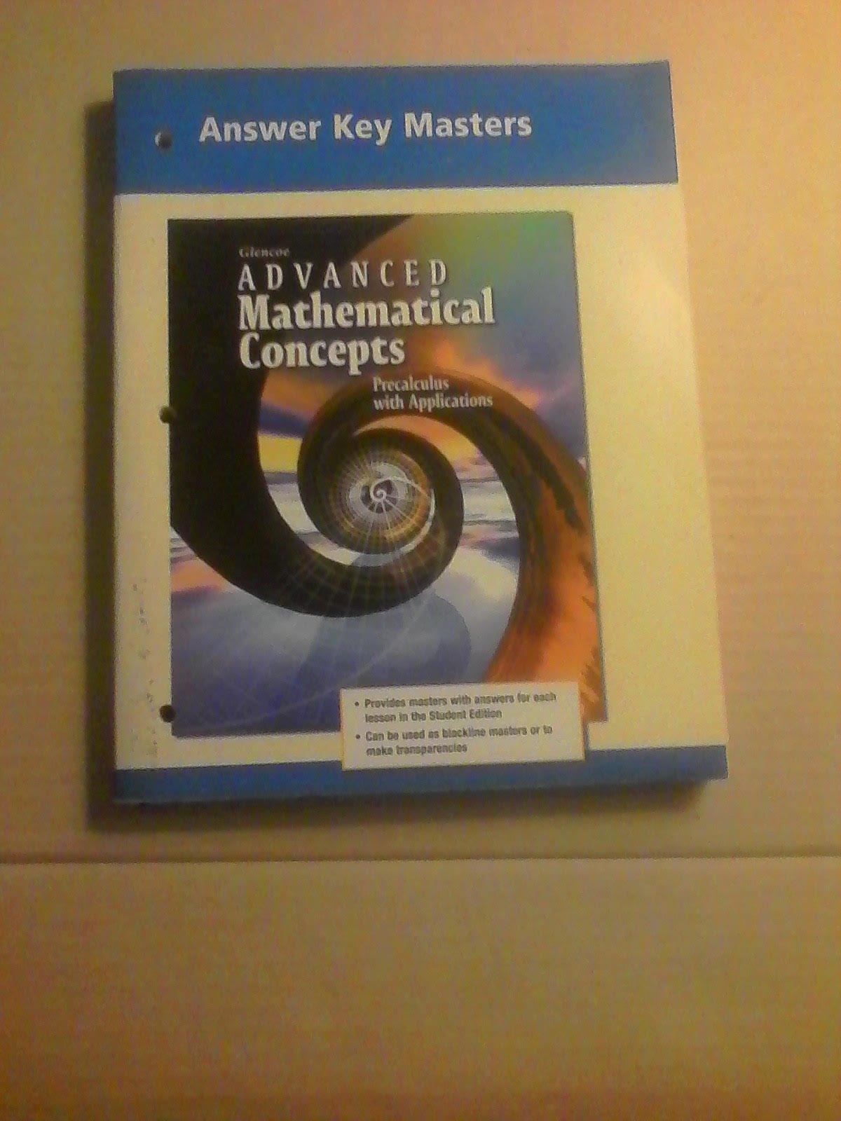Advanced Matematical Concepts, Answer Key Masters: McGraw-Hill:  9780078230943: Amazon.com: Books