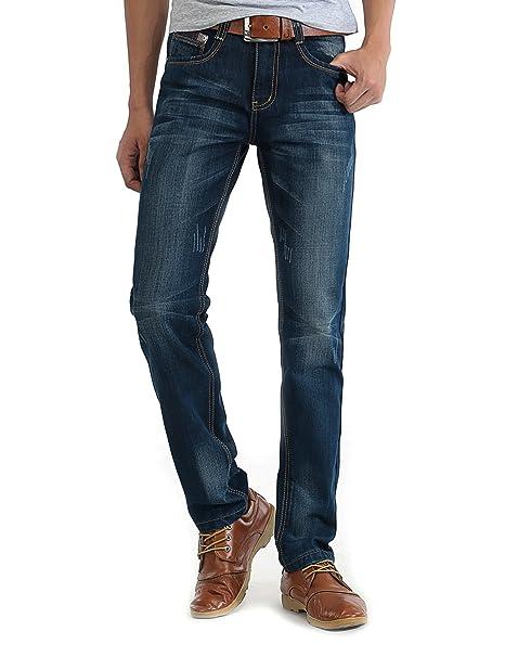 Demon&Hunter 8103 Series Hombre Delgado Fit Pantalones Vaqueros