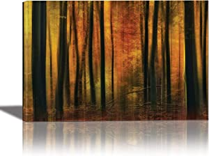 EuroGraphics Autumn Falls Painting Artwork for Home Decor Framed 24x36 inches Canvas Wall Art 24 x 36, 24 x 36 inch, Blue,Bronze,Purple,Beige,Bronze