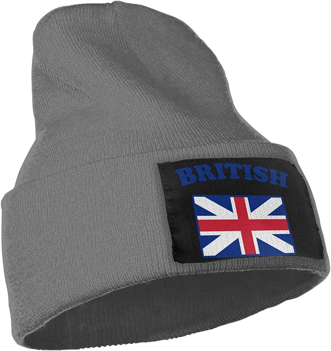 WHOO93@Y Mens and Womens 100/% Acrylic Knitting Hat Cap British Flag Fashion Skull Cap