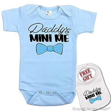 "d0c36a2ef "" Daddy's Mini Me "" Custom Print, cute Baby bodysuit onesie by  Igloo"