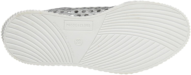 MUSSE & CLOUD Damen Cacey Sneaker Silber (Silver / Plata Plata / 910) bb6366