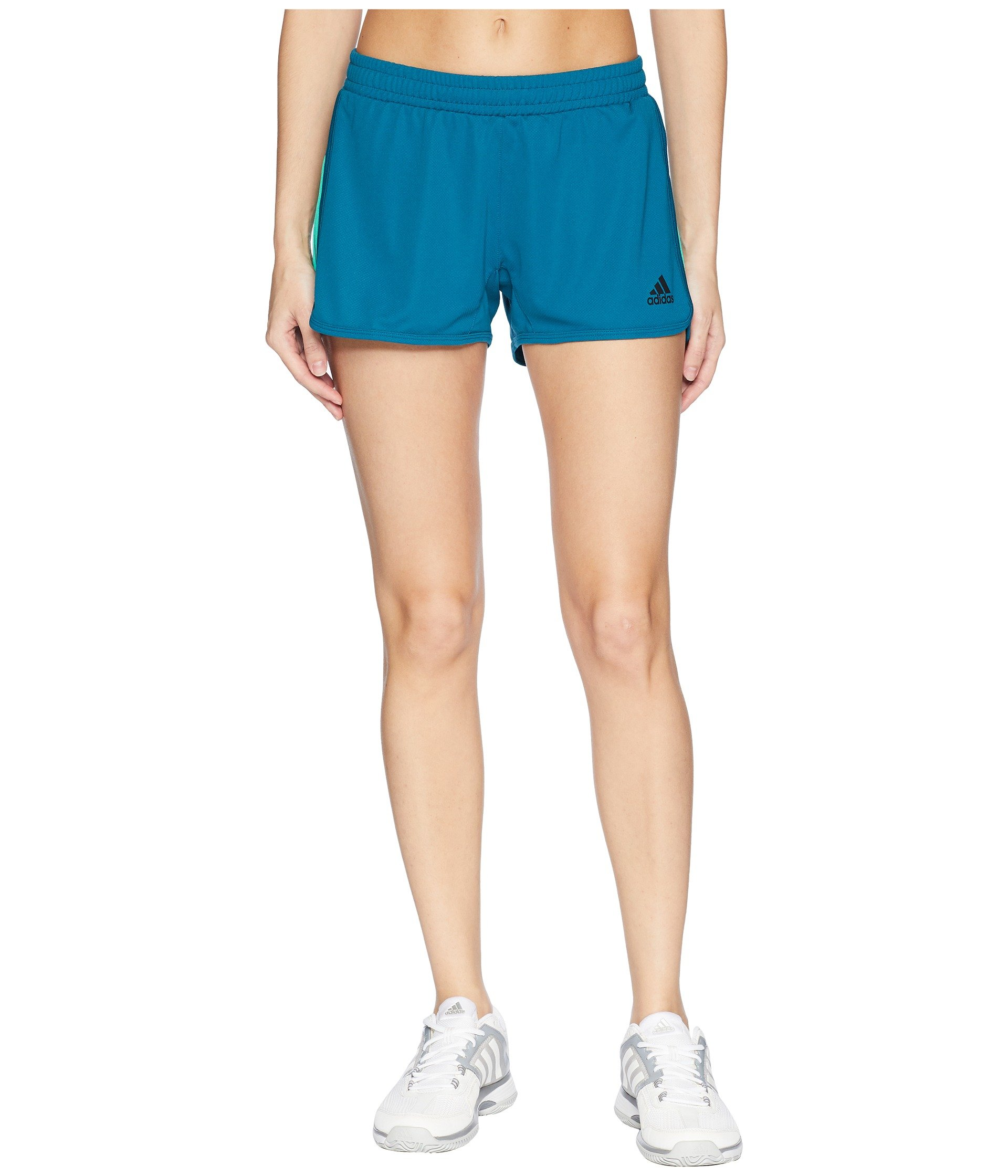 adidas Women's D2m Knit Shorts Real Teal Small 3 3