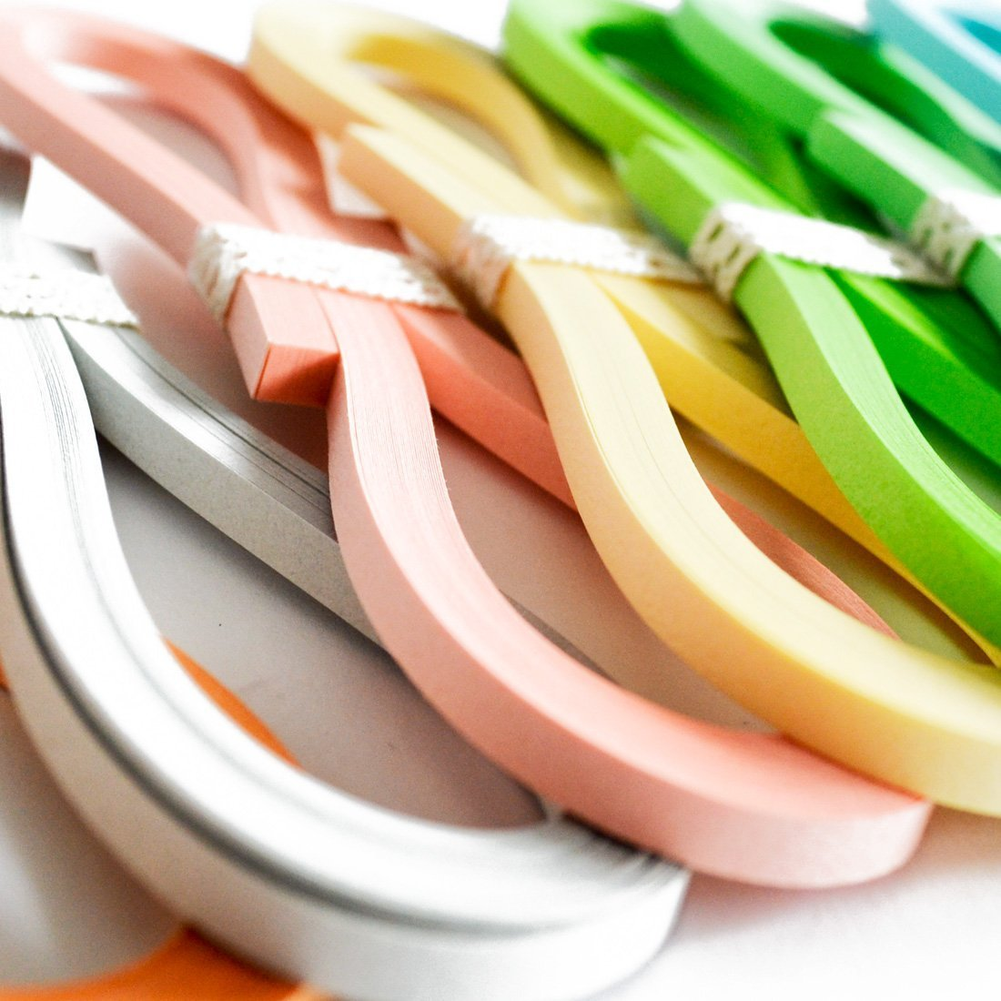 JUYA Tant Paper Quilling Set 1280 Strips 32 Colors 39cm Length//strips Paper Width 3mm