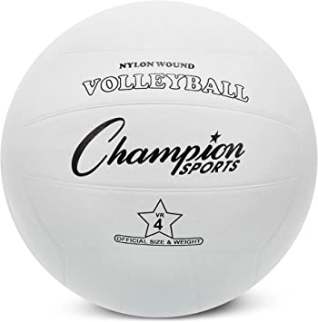 Champion Sports - Pelota de Voleibol de Goma Oficial, Color Blanco ...