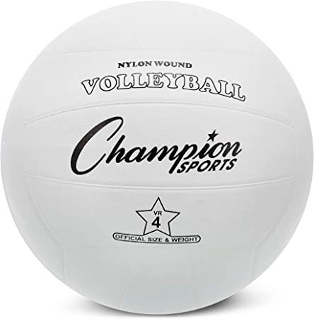 Champion Sports - Pelota de Voleibol de Goma Oficial, Color Blanco ...