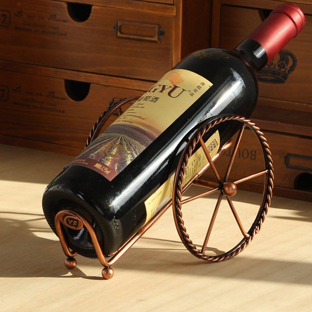 Vosarea botellero de Vino Plegable Creativa Rueda Soporte de almacenaje tri/ángulo de Metal