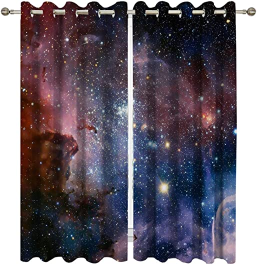 Goodbath Galaxy Window Curtains 2 Panels
