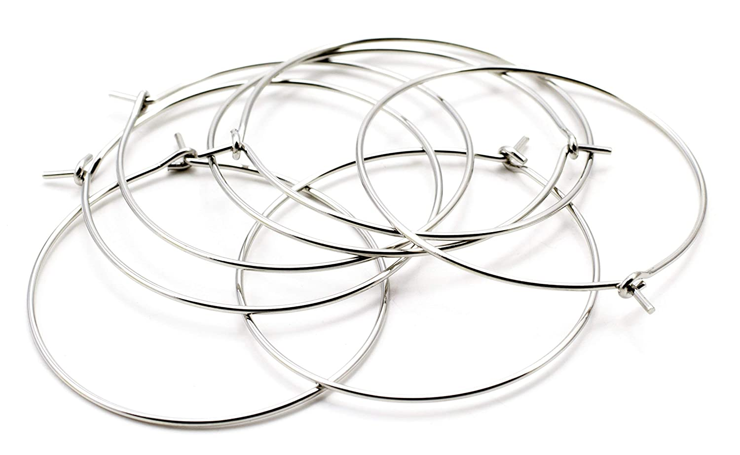 22pc Cousin DIY 30mm Stainless Steel Earring Hoop