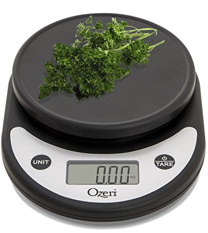 Ozeri Zk14 Ab Pronto Digital Multifunction Kitchen And Food Scale Silver On Black