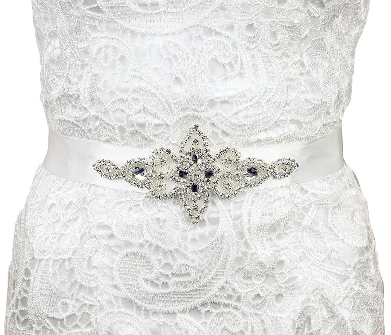 SoarDream Wedding Dress Sash, Belt Bridal Wedding, Rhinestone Bridal Belts.