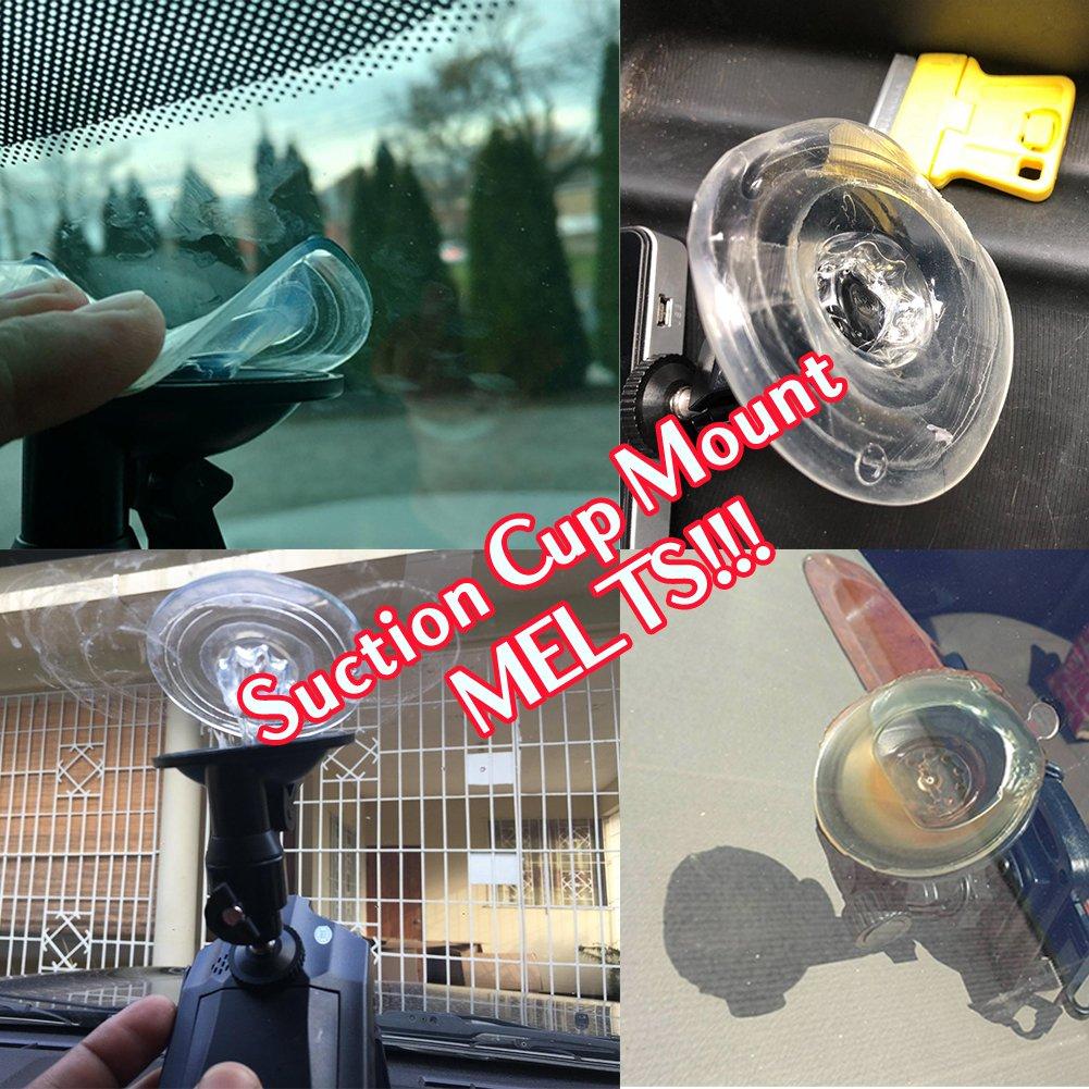 Fits Falcon F170HD,Rexing V1 Z-Edge YI Old Shark Dash Cam Mirror Mount Amebay,KDLINKS X1,VANTRUE and Most Other Dash Cameras AmorTek LYSB0102CK1BS-ELECTRNCS