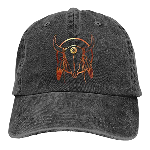 89fbd6e0b American Buffalo Skull Arrowhead Indian Adult Cowboy Hat Baseball Cap  Adjustable Athletic Customized Awesome Hat at Amazon Men s Clothing store