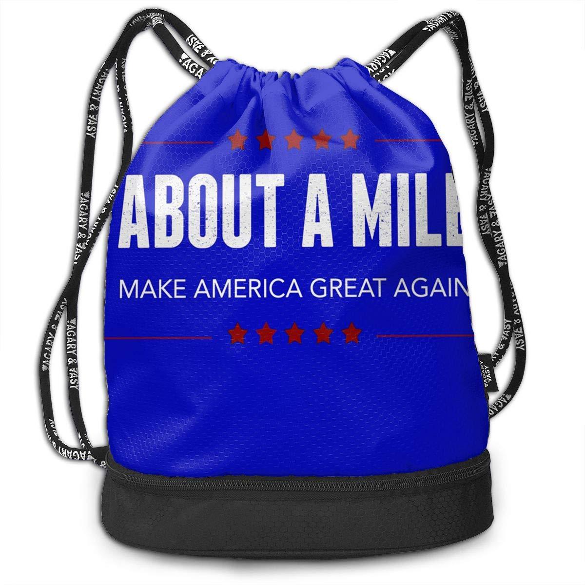 HUOPR5Q Make America Great Again Drawstring Backpack Sport Gym Sack Shoulder Bulk Bag Dance Bag for School Travel