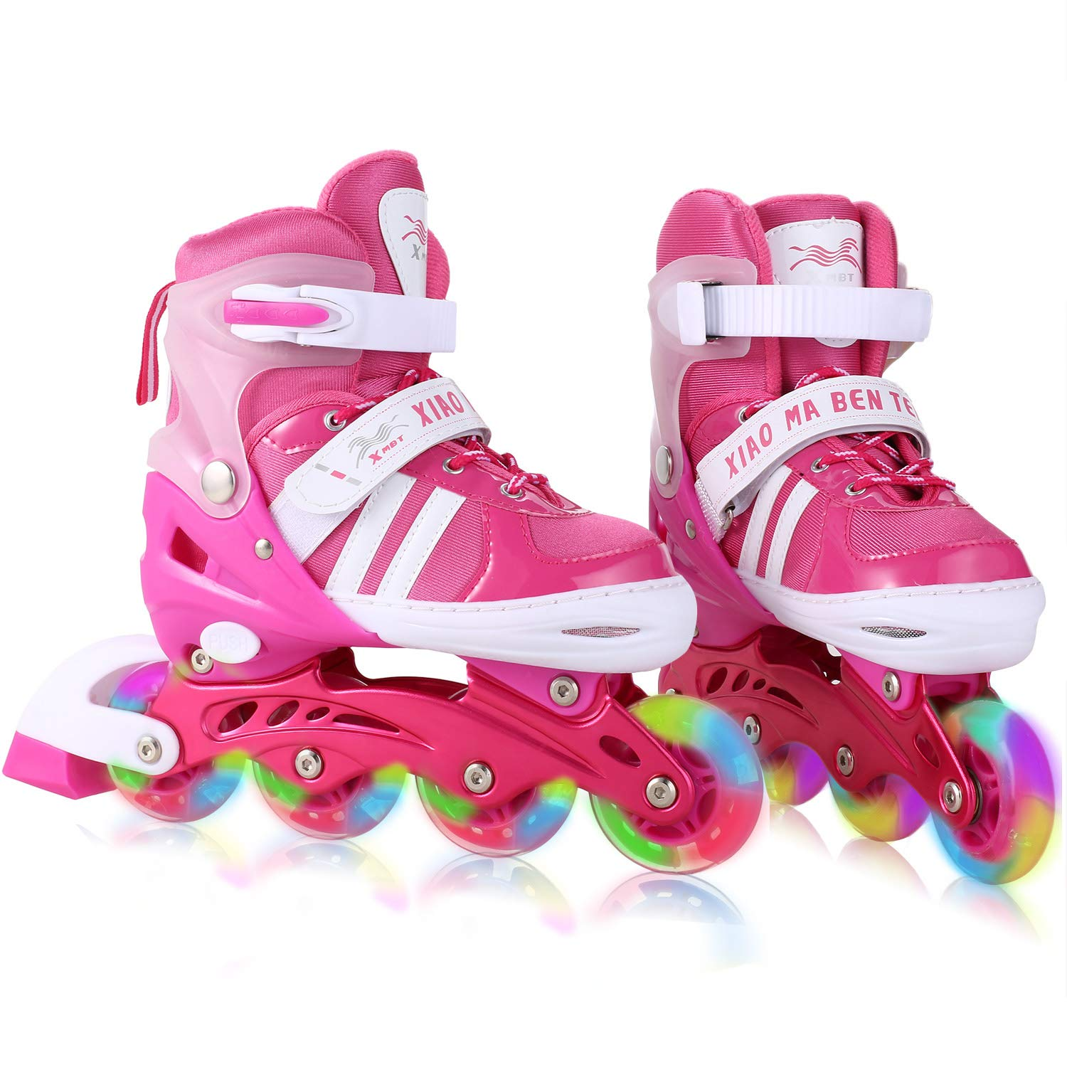 Dongchuan Inline Skates Women/Men Adjustable Size 5-8 Kid 12J-2/2-5 for Boys Girls Aggressive Roller Skates