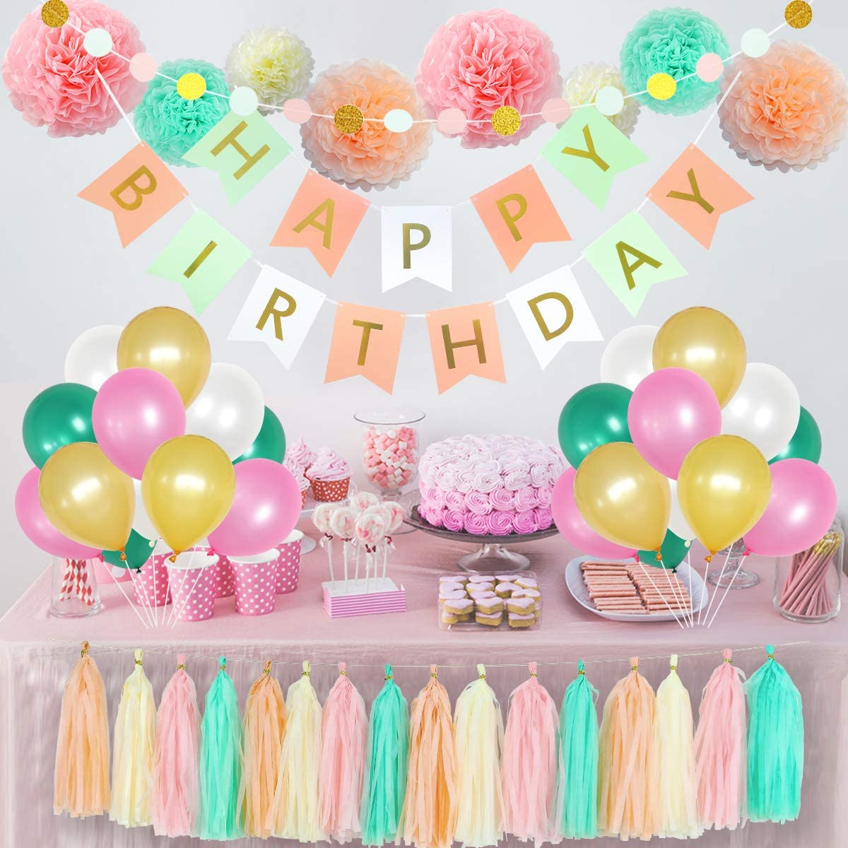 Birthday Party Tableware Plastic Tablecover Decorations 18 Colours Available